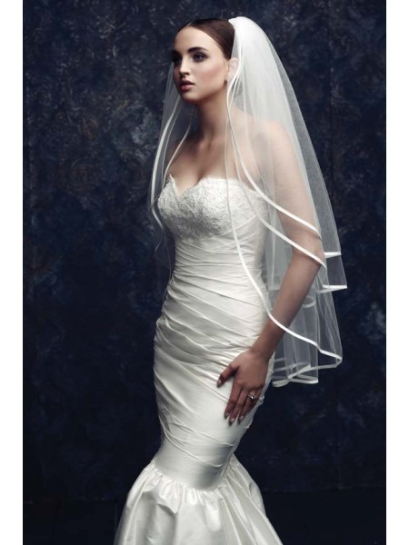 Gorgeous 3 Layer Tyll Veli da sposa