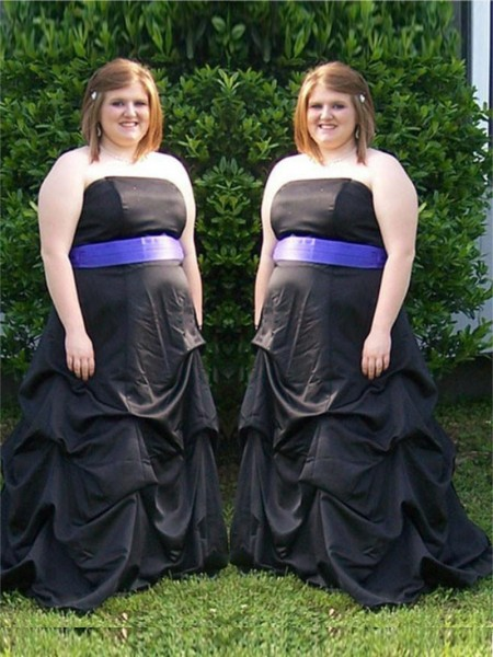 A-Line/Princess Strapless Sash/Ribbon/Belt Sweep/Brush Train Satin Plus Size Dress