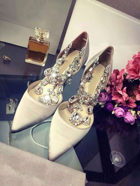 Satin Chain High Heels S3LSDN050416LF