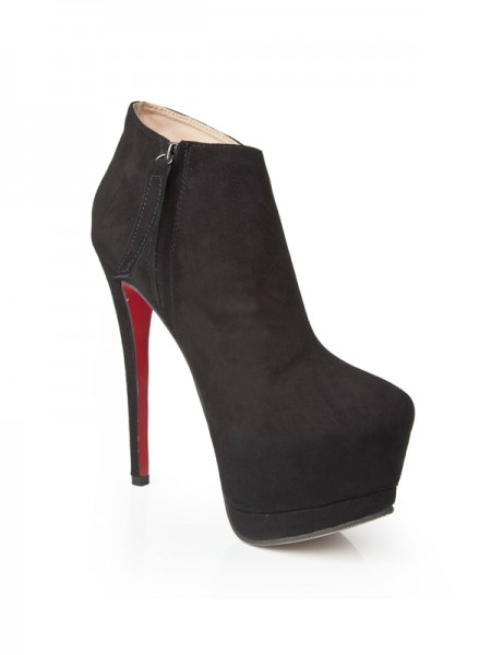 Black With Zipper High Heels S5LSDN1234LF